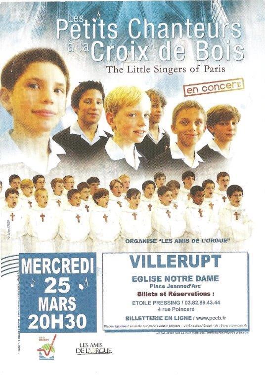 Affiche petits chanteurs